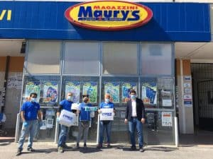 Ladispoli, Maury's dona 2000 mascherine al Comune