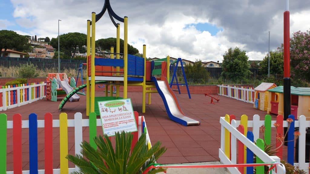 Il parco di Santa Marinella ora più attrezzato per i bambini diversamente abili