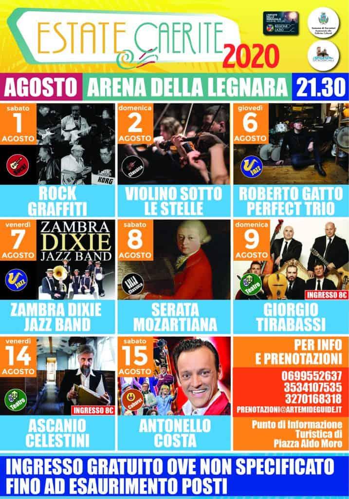 Cerveteri, agosto con Giorgio Tirabassi, Ascanio Celestini e Antonello Costa