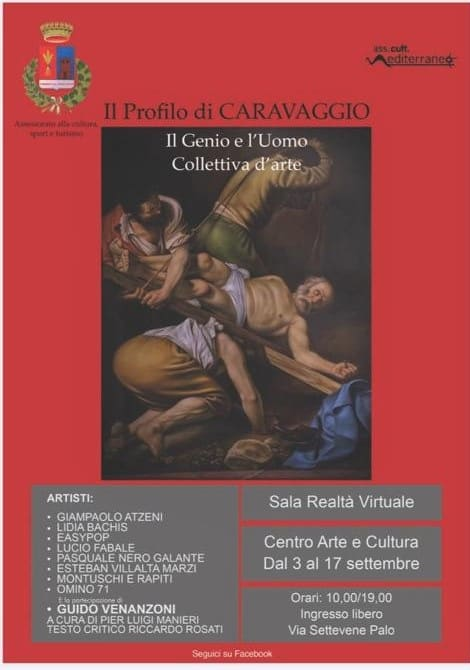 Ladispoli, al centro di arte cultura torna protagonista Caravaggio