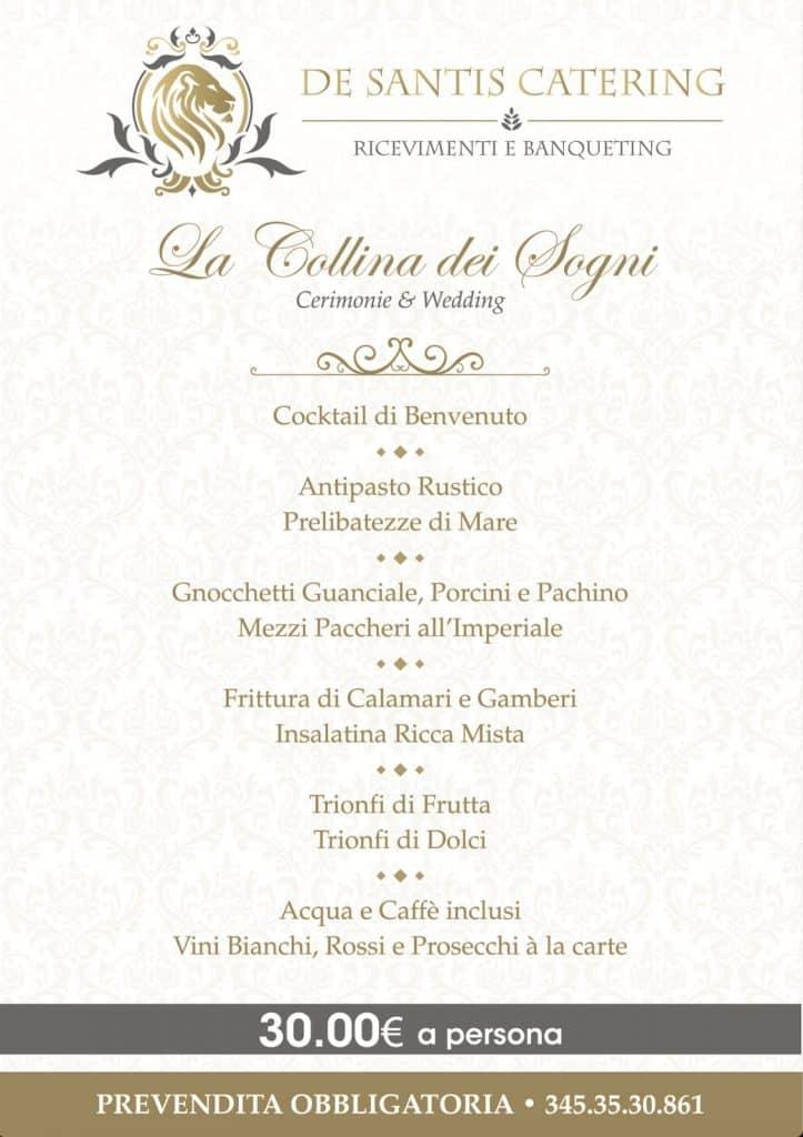 menu evento de santis cerveteri