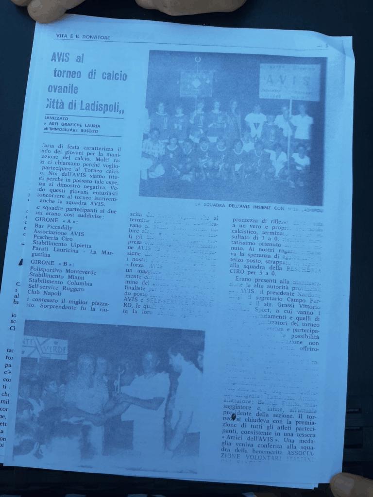 «Ladispoli, si ricordi il fondatore dell'Avis: Goffredo Scialanga»