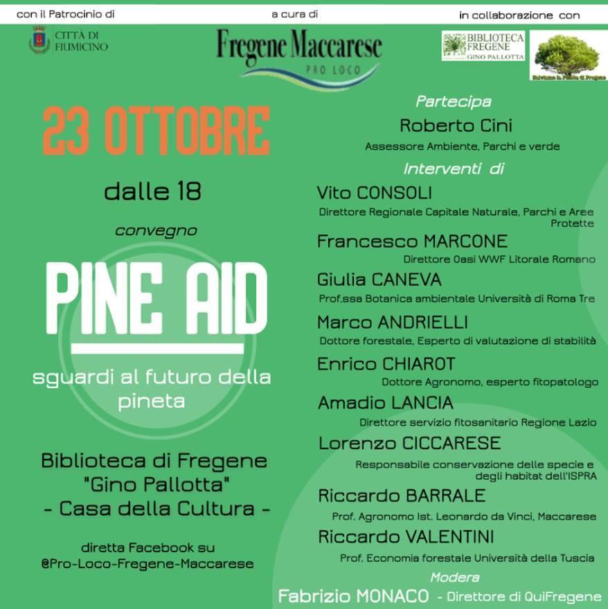 A Fiumicino il convegno PINE AID - Sguardi al futuro della pineta