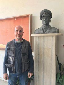 Cerveteri, restaurata da Ivano Ercoletti la statua di Salvo D'Acquisto