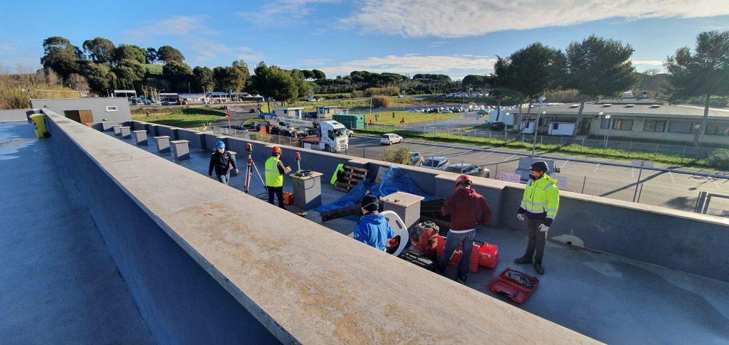 Ladispoli: iniziati i lavori di copertura della tribuna dello stadio Sale