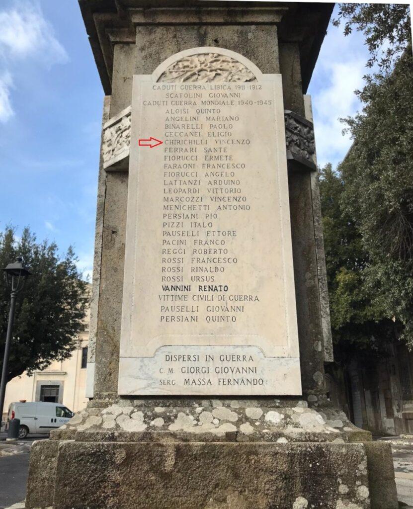 Manziana ricorda i Martiri delle Foibe tra cui Vincenzo Chirichilli