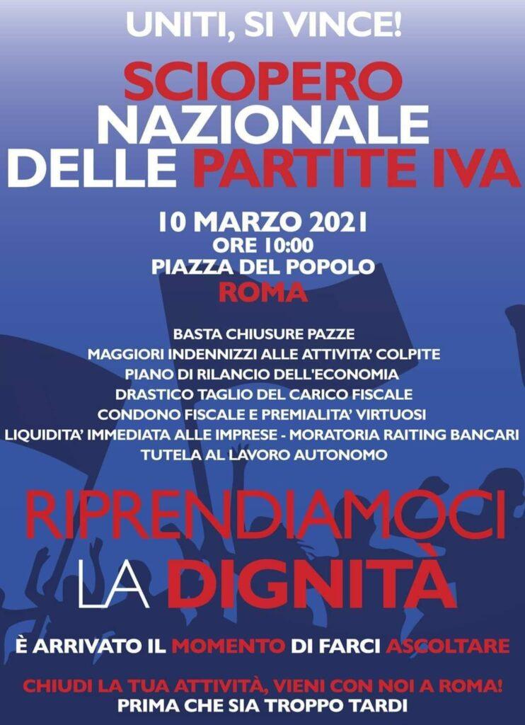 Crisi economica, il 10 marzo a Roma sciopero nazionale delle Partite Iva