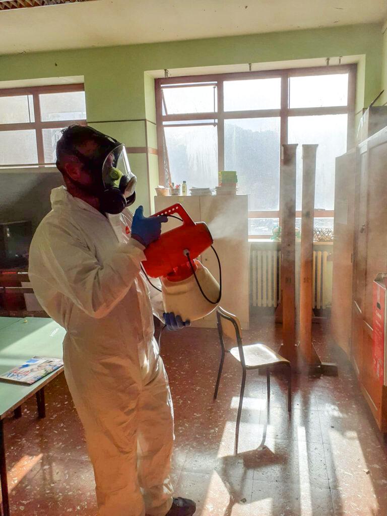 sanificazione nebulizzatore elettrico