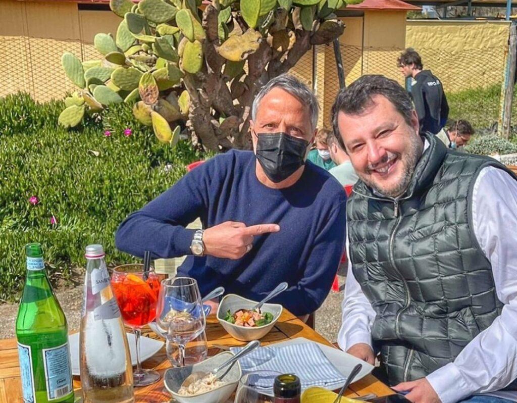 Salvini all'Isola del Pescatore