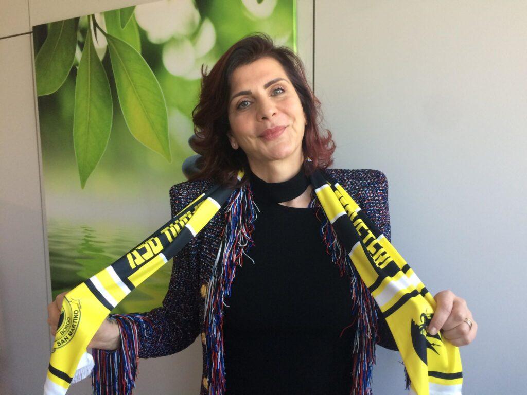 Donne e calcio, il Borgo San Martino omaggia lo sponsor Antonella Rizzato