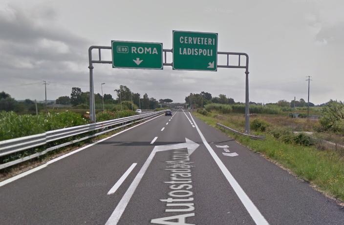 A12 Roma-Civitavecchia: chiusure notturne dello svincolo di Cerveteri