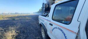 Ladispoli, incendio di sterpaglie: l'intervento dei Vigili del Fuoco