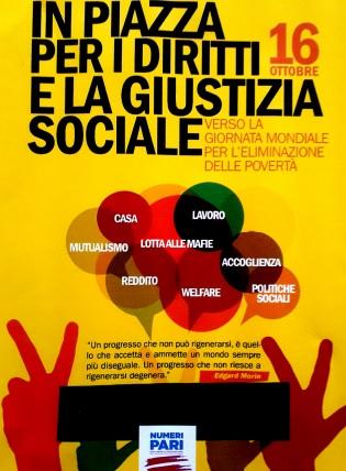 Giornata mondiale per l'eliminazione della povertà: Libera Cerveteri Ladispoli scende in piazza