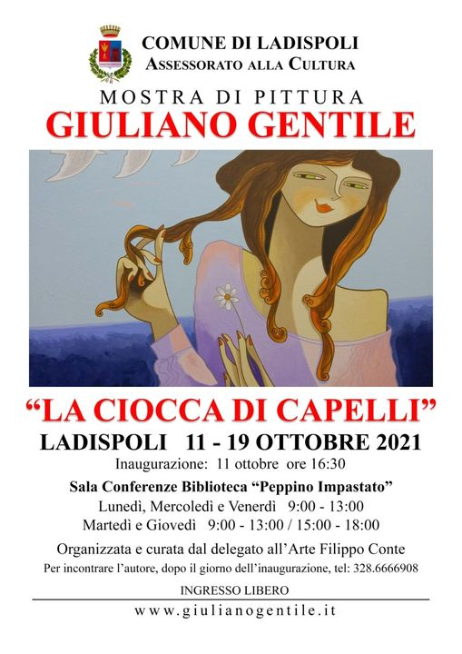 Ladispoli: il maestro Giuliano Gentile espone in biblioteca comunale